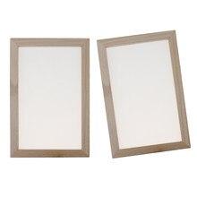 2 peças 20x30cm de papel que faz o quadro da tela, pronto malhado e vem com um quadro integral do deckle