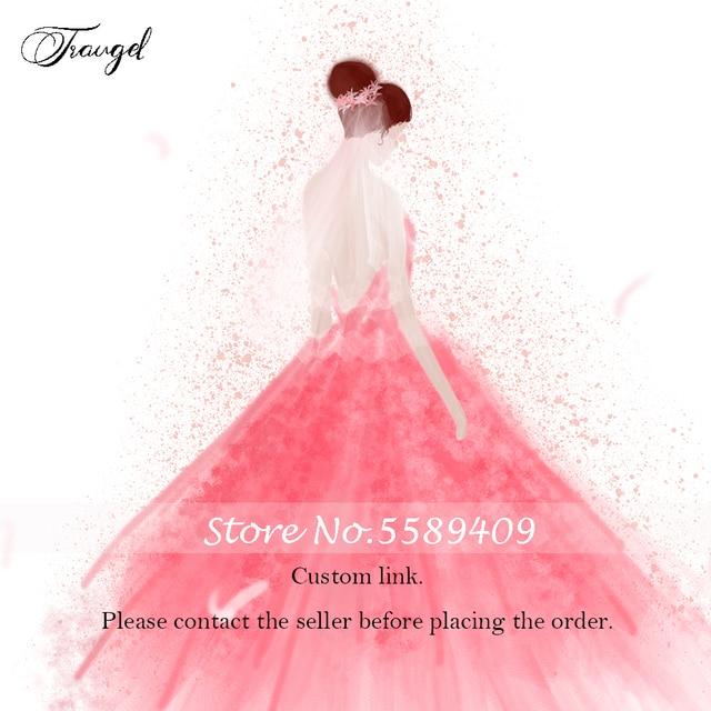 Traugel personnalisé robe de mariée 2020 personnalisé personnalisé à la main toute robe de mariée demande spéciale frais personnalisés lien