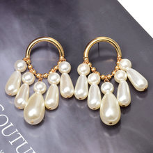 Wholesale New Pearl Dangle Drop EarringsFashion Simple Earrings Jewelry Accessories For Women High-Quality Pendientes Bijoux(China)