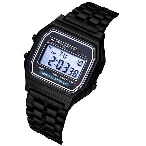 Luxury Rose Gold Women Digital Watch Ultra-thin Steel LED Electronic Wrist Watch Luminous Clock Ladies Watch Montre Femme Karachi