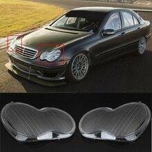 1 пара прозрачных поликарбонатных крышек для передних фар премиум-класса с УФ-покрытием для Mercedes-Benz 01-07 W203 автомобильные аксессуары