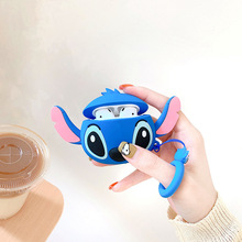 For Airpods 2 Case Silicone Stitch Cartoon Cover For Wireless Airpods Case Cute Earphone 3D Headphon