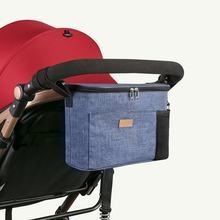 Сумка для коляски с плечевым ремнем, большая сумка для хранения, водонепроницаемая сумка для мамочки, универсальный органайзер для коляски, сумка для подгузников