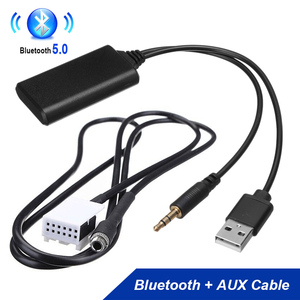 RD4 Car Radio Bluetooth Receiver 12Pin 3.5mm Car AUX Adapter Audio Cable For Peugeot 307 308 407 408 507 Citroen C2 C5 C4 RD4(China)