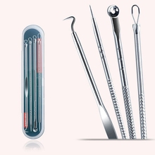 Tools Spoon Needles Pimple Acne-Removal Face-Skin-Care-Tools Facial-Pore-Cleaner Stainless-Steel
