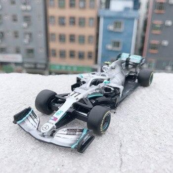 цена на Bburago 1:43 W10 No. 77 Formula One racing static racing simulation aluminum model car Mercedes-Benz team