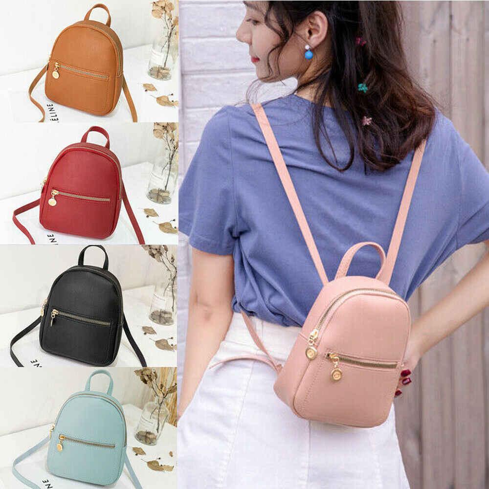 Armazém feminino menina pequena mini moda escola mochila de viagem ombro mochila de couro falso mochila eua