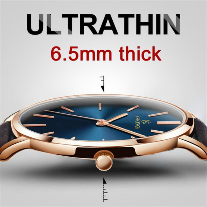 Mens Watches Top Luxury Brand Ultra Thin Wrist Watch Men Watch Blue Glass Men's Watch Clock Relogio Masculino Erkek Kol Saati