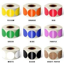 500 шт цветной ярлык для маркировки круглые записываемые белые