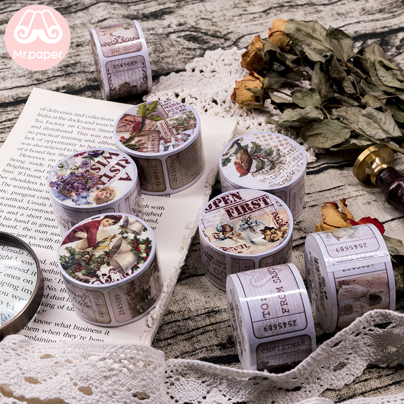 Mr Paper 8 Designs Creative Vintage Retro Style Fairy Tales Bullet Journaling Deco Sticker 30mmx5m Masking Tapes Easy To Tear