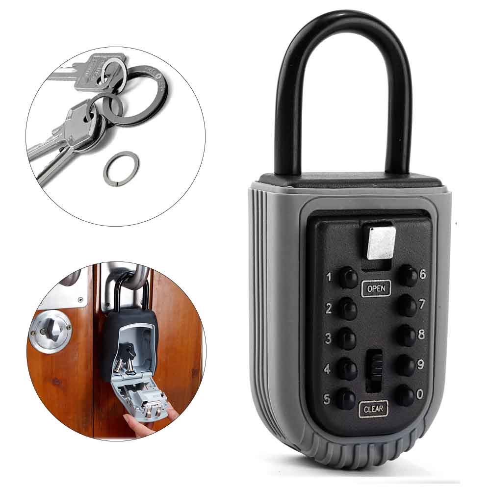 Safe Password For Realtor Indoor Outdoor 10 Digit Combination Zinc Alloy Garage Home Real Estate Waterproof Padlock Key Lock Box