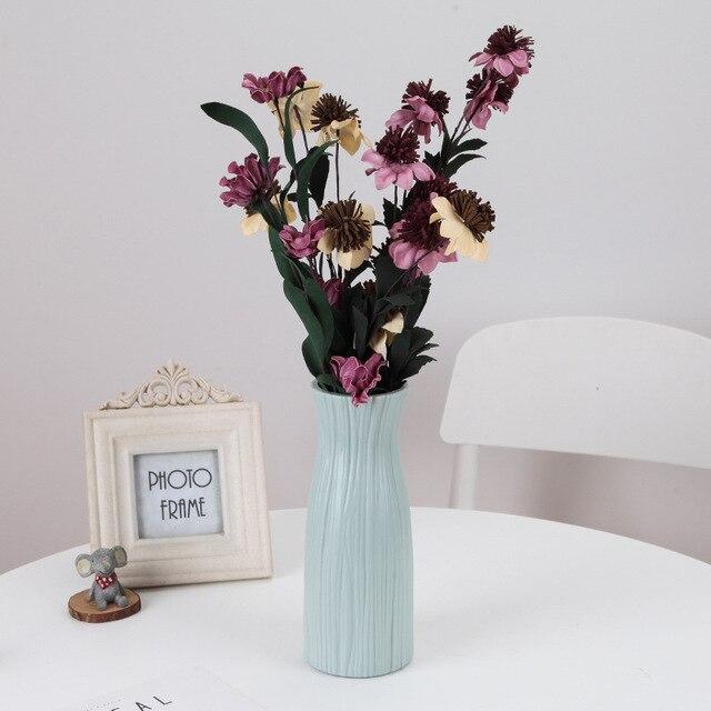 Origami Plastic Vase Imitation Ceramic Flower Pot Flower Basket Flower Vase Decoration Home Nordic Decoration 3
