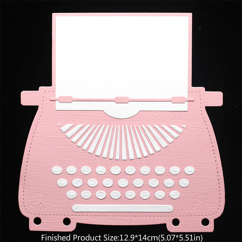 KSCRAFT Typewriter Planner Dies Metal Cutting Dies For DIY Scrapbooking/Card Making/Kids Fun Decoration Supplies