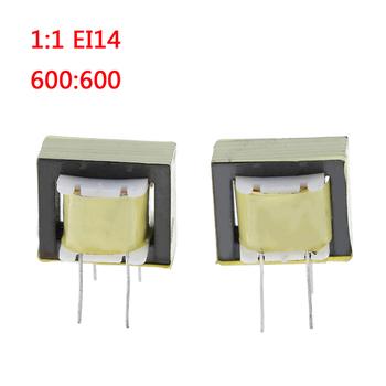 2 sztuk 1 1 EI14 transformatory Audio transformator izolacji 600 600 Ohm europa tanie i dobre opinie CN (pochodzenie)