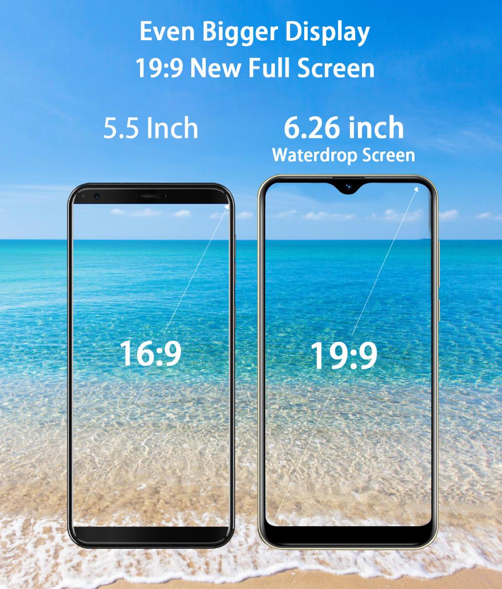 Xgody 3G teléfono móvil Note7 2GB 16GB Smartphone 6,26 15