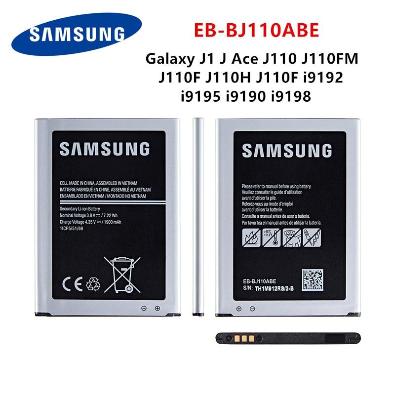 SAMSUNG Orginal EB-BJ110ABE Battery 1900mAh For Samsung Galaxy J1 J Ace J110 J110FM J110F J110H J110F I9192 I9195 I9190 I9198