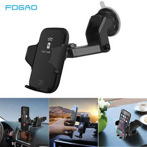 FDGAO Automatic-Clamping Wireless-Charger Phone-Mount-Holder Note iPhone Samsung 10W