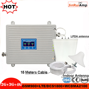 Image 1 - Tri Band Repeater 2G 3G 4G GSM 900 DCS/LTE 1800 WCDMA/UMTS 2100MHz Amplifier Mobile cellular Signal booster Antenna Set Booster