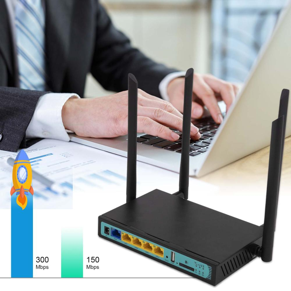 Original WE2416 4G Wireless WiFi Router 5Port Router mit <font><b>SIM</b></font> karte USB WAP2 802.11n/u/b /g 300Mbps 2,4G router LAN WAN 10/100M PC image