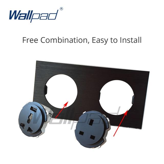 Wallpad 2 Gang 1 Weg Wand Licht Schalter Led-anzeige Funktion Schlüssel Nur Freie Kombination