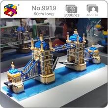PZX – Mini blocs de diamant en briques, jouet de construction pour enfants, modèle 3D, Architecture du monde, le pont de la tour de londres, DIY, sans boîte, 9919