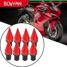 Ducati V4 V4S V4R V2 1299 959 Panigale 1198 1098 999 848 749 CNC 오토바이 앞 장식 나사 볼트