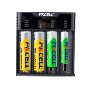 Image 4 - PKCELL Smart battery Charger for 1.2v 3.7v AA/AAA 18650 rechargeable battery NIMH/NICD charger Indicators fast charging
