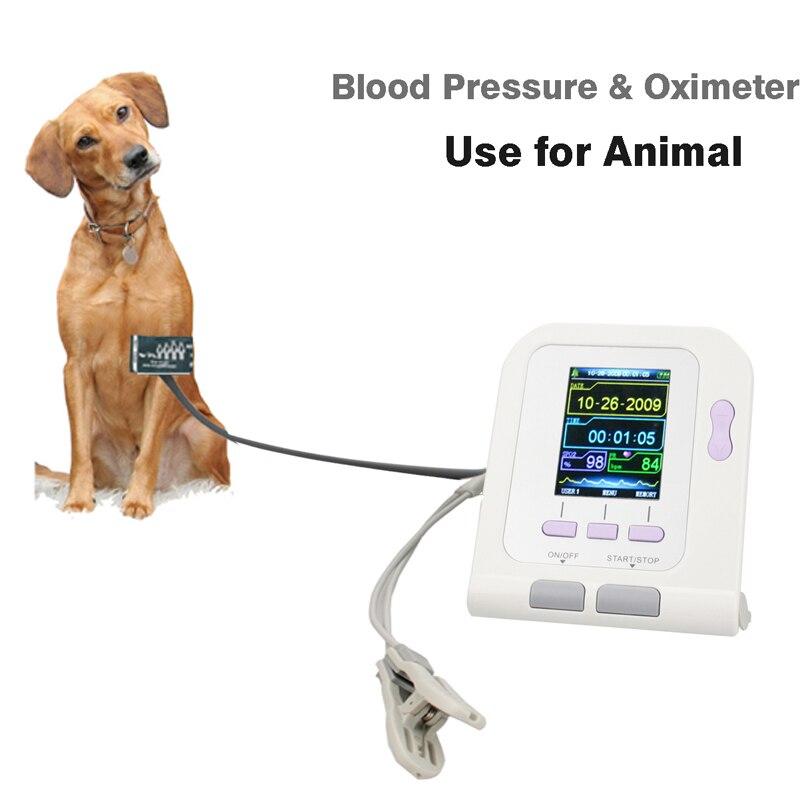 Sphygmomanomètre numérique moniteur de tension artérielle vétérinaire fréquence cardiaque animale pour chien chat moniteur de PR pour animaux de compagnie avec softwear CONTEC08A