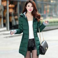 ladies winter warm hooded coat plus size cotton 2019 jacket ladies long section Parker coat female cotton Jack Feminina