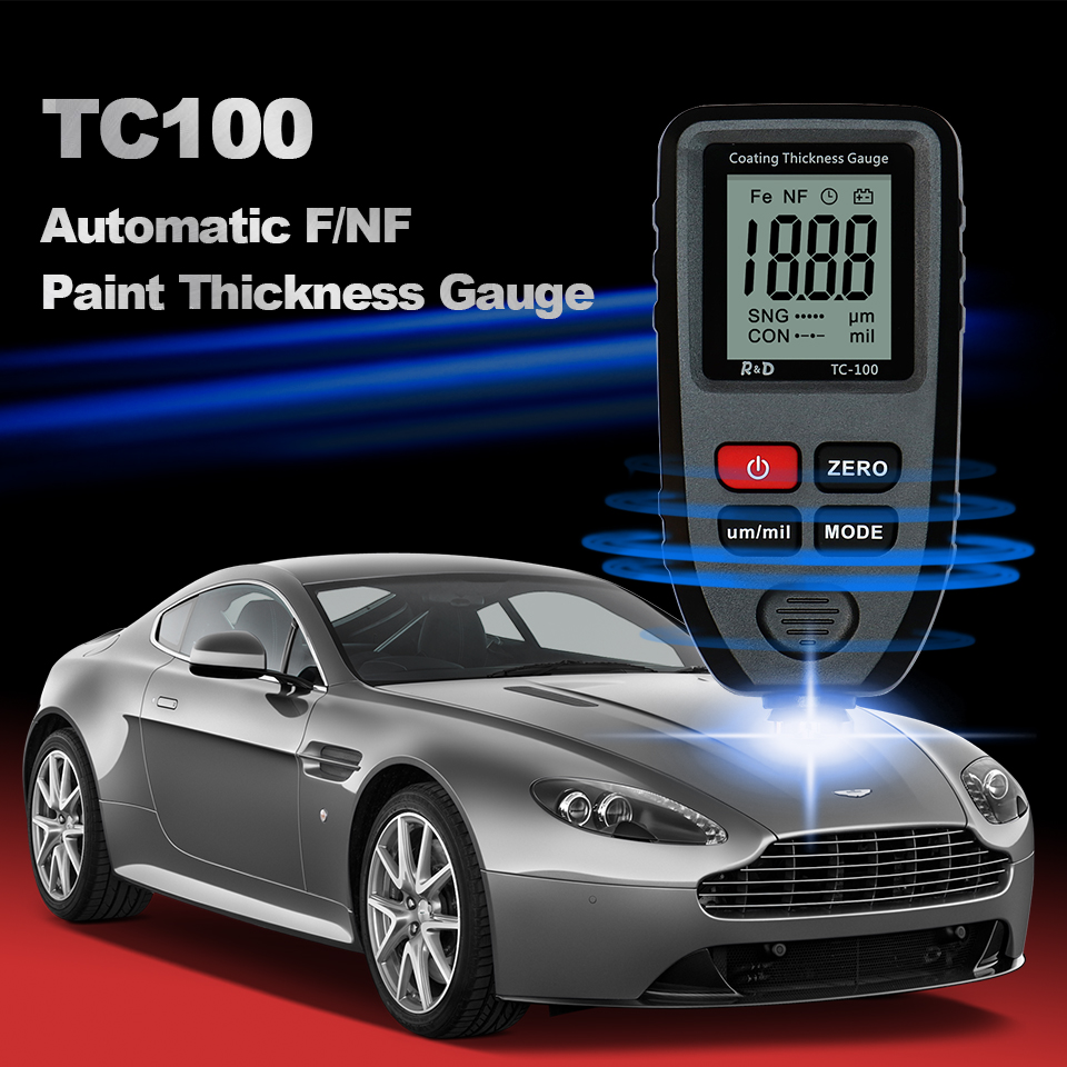 Tester Paint D NFE Black Coating Thickness Car R Paint Gauge Measuring Thickness FE TC100 Amp Russian Tool Manual Film