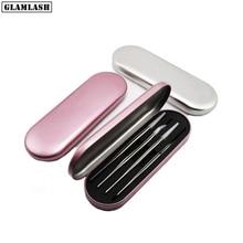 Glameyelashes pincettes antistatiques abordables pour Extension de cils, étui en fer blanc, outil de maquillage