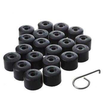20 pçs tampa da roda do carro hub porca parafuso cobre tampa 17mm parafusos de pneus automóvel para volkswagen golf mk4 proteção exterior acessórios