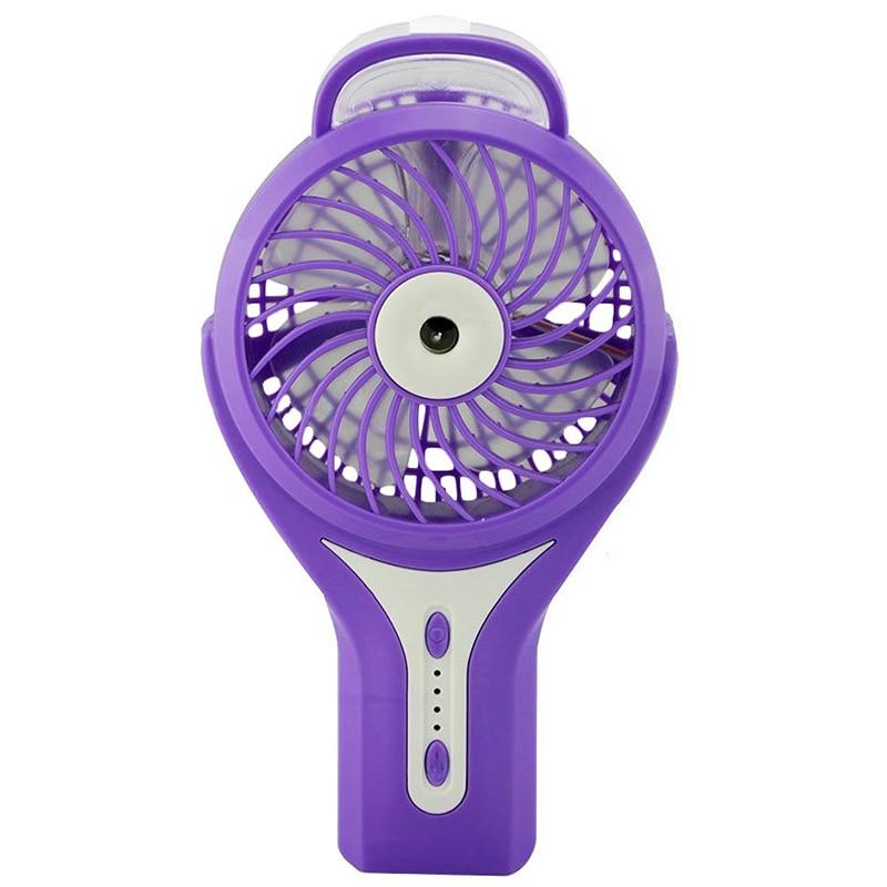 Ev Aletleri'ten Fanlar'de Misting Fan Mini Usb el nemlendirici Mist su sprey klima nemlendirici fanı taşınabilir yüz sprey buharlı nemlendirici title=