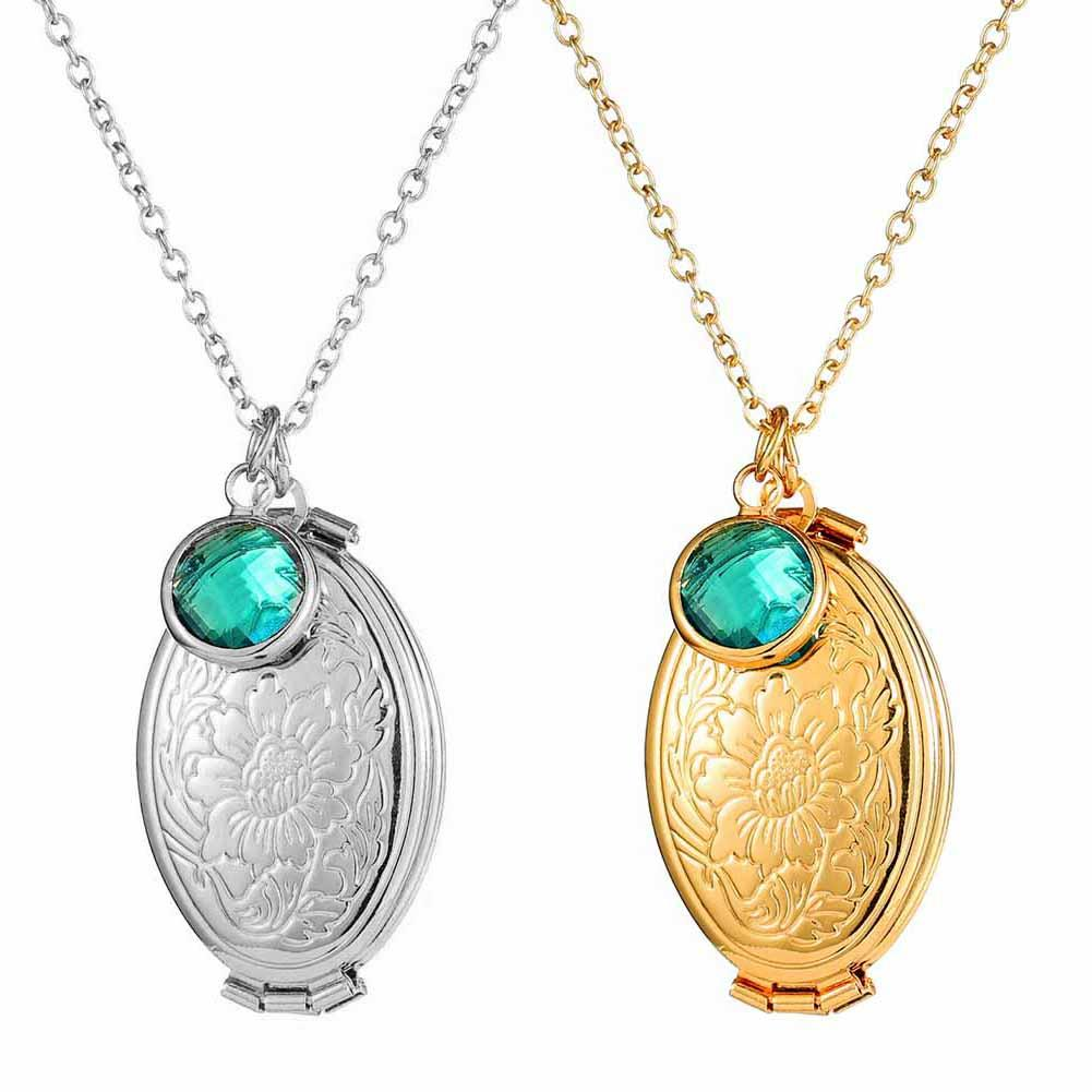Fashion necklace pattern pendant necklace multi-layer photo to open the item box aroma pendant with chain women's jewelry coker image