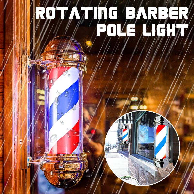 55cm berber dükkanı kutup dönen aydınlatma kırmızı beyaz mavi şerit dönen ışık çizgili işareti saç duvar asılı LED downlight
