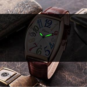 Image 2 - ファッションの高級ブランドスクエア腕時計男性トノー防水ビジネス腕時計男性時計男性 erkek kol saati