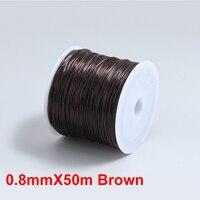 0.8mmX50m Brown