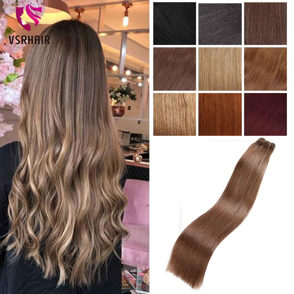 VSR European Quality Hair Extensions Hair Double Drawn Human Hair Weaves Straight 100g Machine Remy Hair Weft Hair Extensions