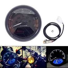 Digital Motorcycle Speedometer Odometer Tachometer Motorbike Dashboard Speed Indicator LED Speed Meter Universal Motorcycle цена