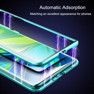 Image 2 - 360º Curved Screen Front+Back Double sided Full Body Metal Magnetic Adsorption Flip Protective Case Xiaomi Mi Note 10 CC9 Pro