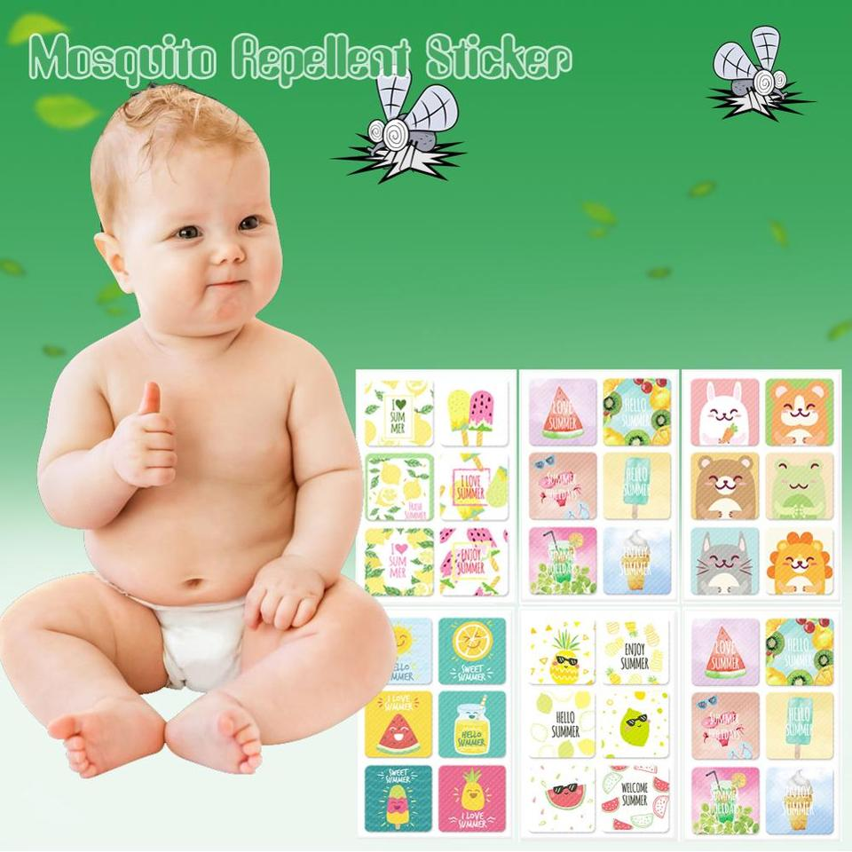 24PCS//Bag Patch Mosquito Bugs Repellent Natural Non Toxic Stickers For Kids