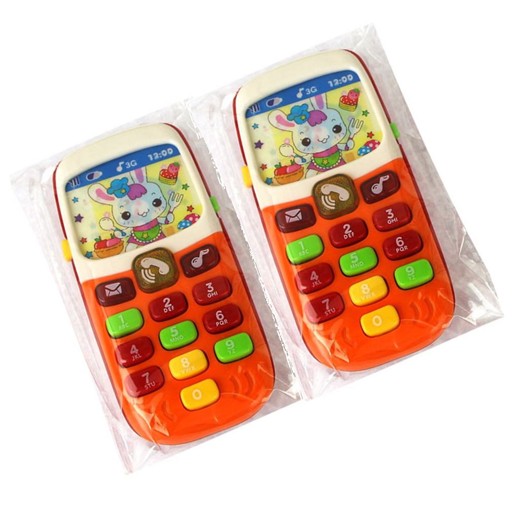Baby Kids Phone Toy Music Sound Machine Electronic Mobile Phone Toy For Educational Learning