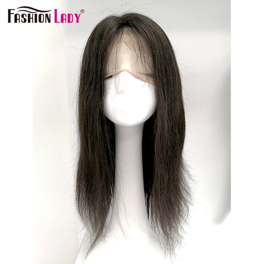 Remy Lace Front Human Hair Wigs Fashion Lady Pre Plucked Brazilian With Baby Hair Natural Color Straight Wig 150 Density