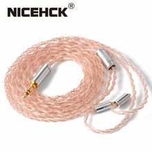 NICEHCK Oalloy 6N UPOCC mieszany kabel miedziany i miedziano srebrny Litz 3.5/2.5/4.4 MMCX/0.78mm 2Pin/qdc2Pin dla NX7 MK3 LZ A7