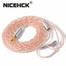 Nicehck oalloy 6n upocc cobre e cobre prata liga mista cabo litz 3.5/2.5/4.4 mmcx/0.78mm 2pin/qdc2pin para nx7 mk3 lz a7
