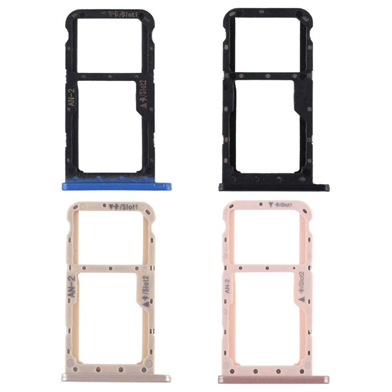 SIM Micro Secure Digital Memory Card Tray Double Slot Holder Carrier Adapter Replacement Metal for Huawei P20 Lite Nova 3E