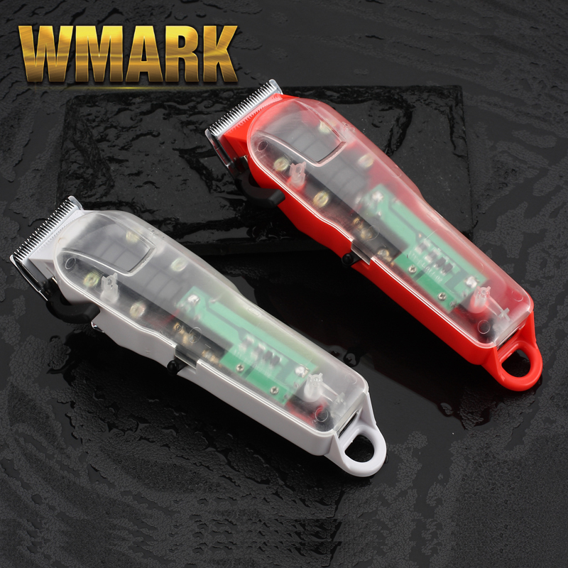 2020 WMARK NG-108 New Limited Edition Transparent Style Professional Rechargeable Clipper Hair Trimmer 6900 RPM 2200 Battery