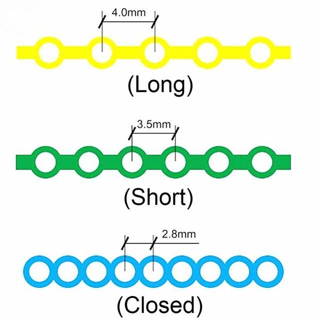 1pc Dental Ultra Power Chain 4.75m Length Orthodontic Elastic Power Chain High Strength Rubber Spool Short Distance