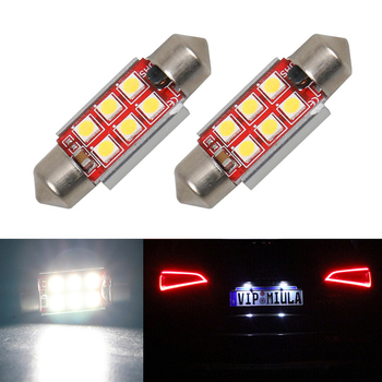 2x Canbus No Error 36MM C5W LED License Plate Light For Mercedes Benz W208 W209 W203 W169 W210 W211 W212 AMG CLK image