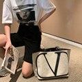 Bolsa feminina de lona grande capacidade, sacola de ombro popular, bolsa de mensageiro de mulheres, bolsa de mão, verão 2020 principal principal
